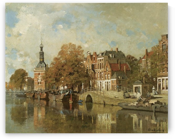 The verdronken oord with the Accijnstoren, Alkmaar by Johannes Klinkenberg