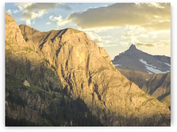 Golden Rays of the Sun on the Swiss Alps in the Bernese Highlands by 1North