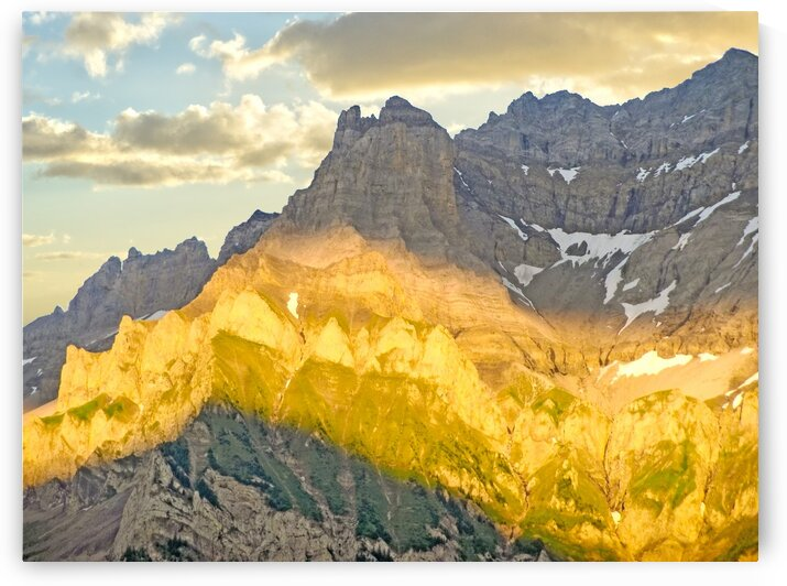 Golden Rays of the Sun Across the Swiss Alps by 1North