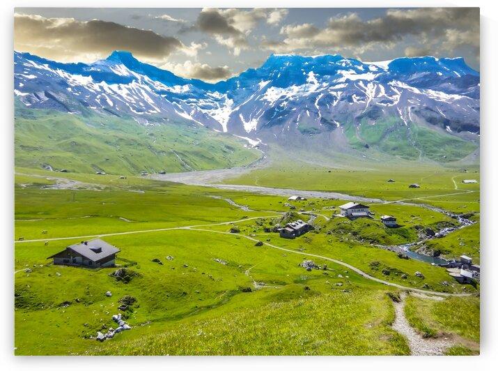 High Alps Village in Spring Switzerland by 1North
