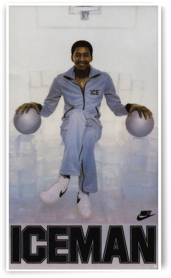 1982 George Gervin Nike Iceman Poster by Row One Brand