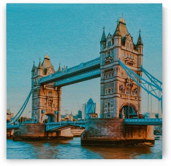 Tower Bridge. Oil painting imitation. by Ievgeniia Bidiuk
