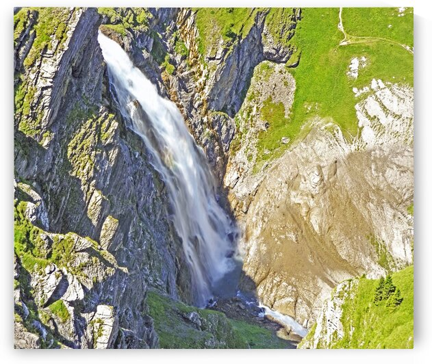 Majestic Water Falls in the Swiss Alps by 360 Studios