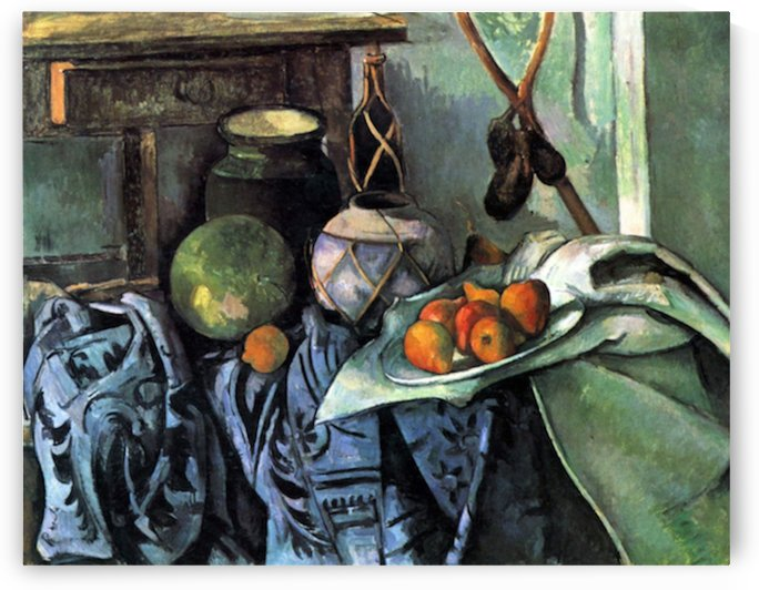 Still life with Eggplant by Cezanne by Cezanne