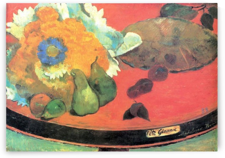Still Life with fete by Gauguin by Gauguin