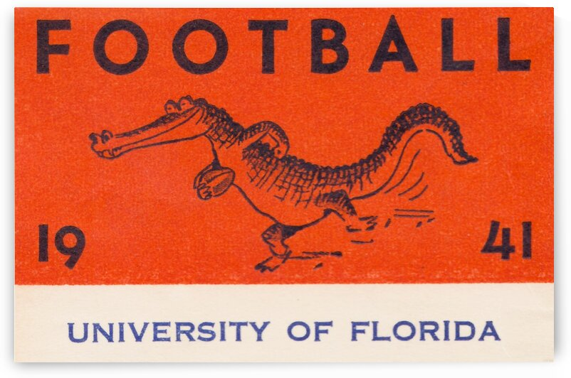 1941 Florida Gators Football by Row One Brand