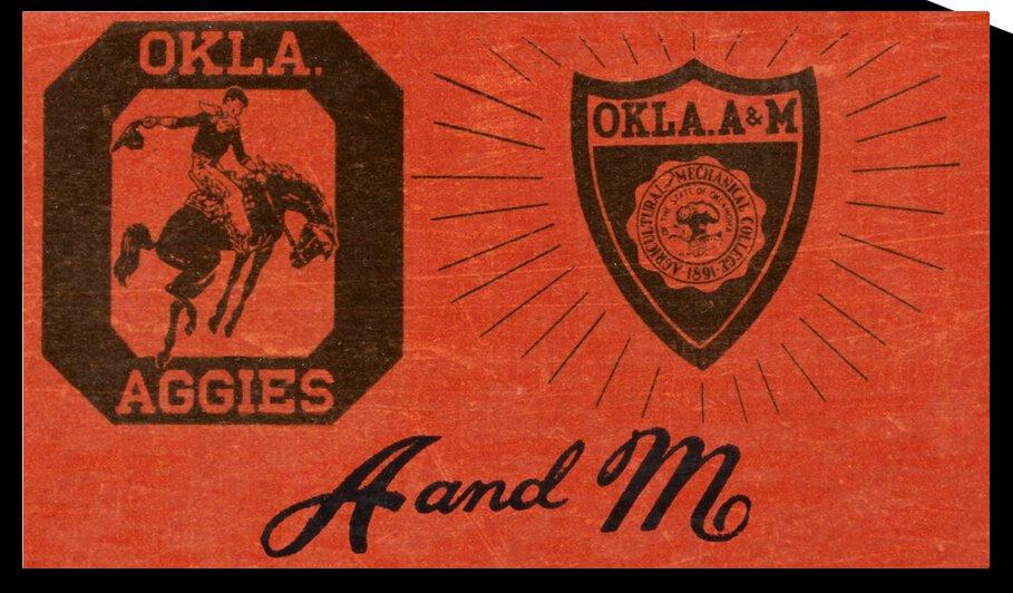 Vintage Oklahoma A&M OSU Cowboys Art by Row One Brand