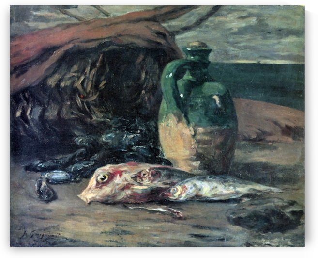 Still Life with Fish by Gauguin by Gauguin