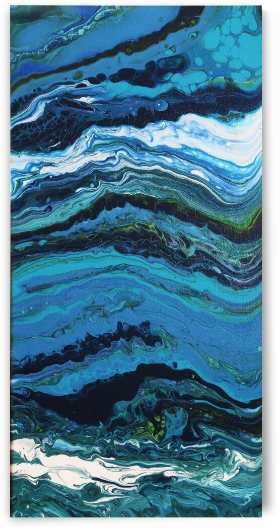 Abstract Ocean Painting  by Lynn Prudhomme Mills