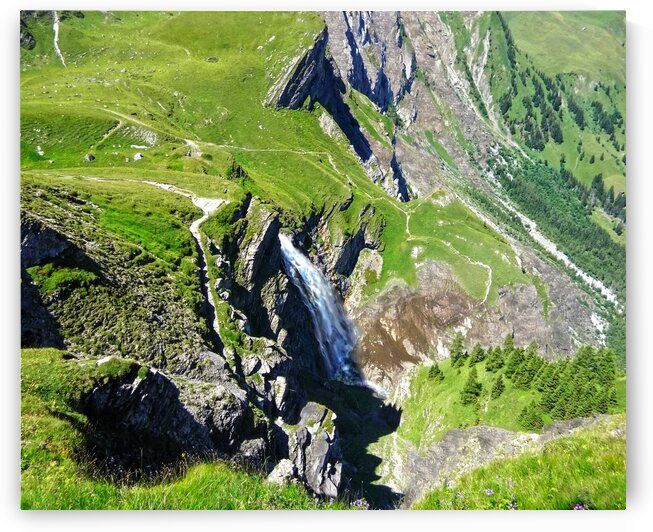 Waterfalls in the Swiss Alps by 24