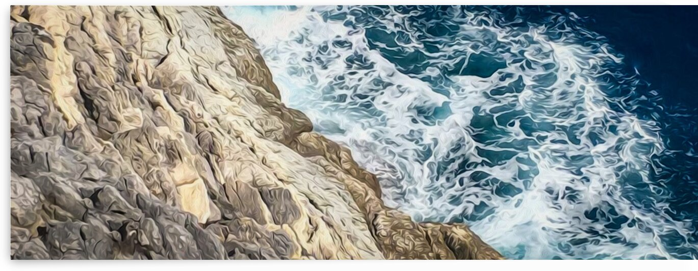 Rocks and sea waves. by Ievgeniia Bidiuk