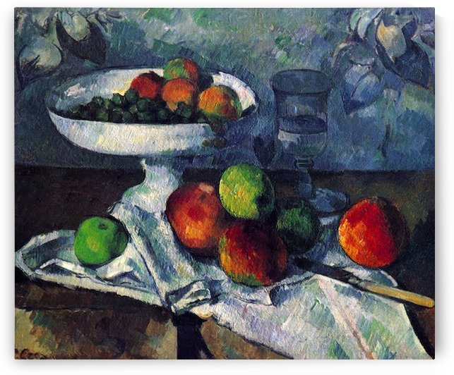 Still Life with Fruit Bowl by Cezanne by Cezanne
