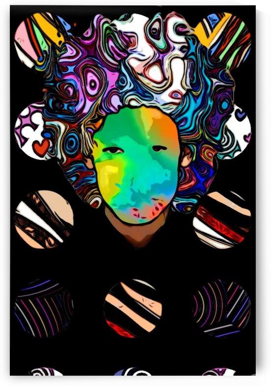 Afro Abstract Boy by Kiva Ayo