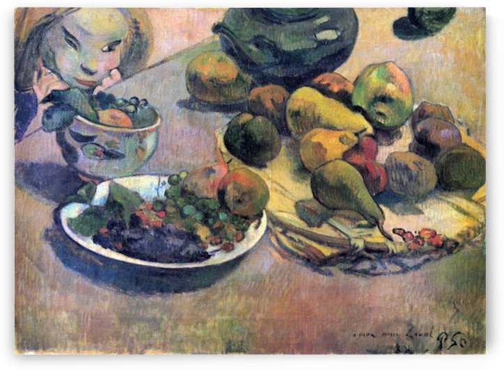 Still Life with Fruit by Gauguin by Gauguin