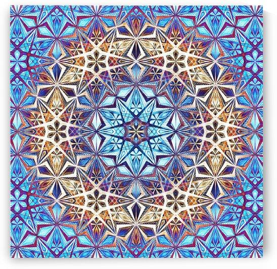 Star Kaleidoscope Handdrawing 2 by Tsveta Dinkova