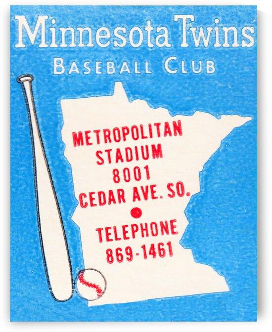 1967 Minnesota Twins Metropolitan Stadium Art by Row One Brand