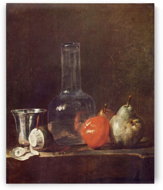 Still Life with Glass and fruits by Jean Chardin by Jean Chardin