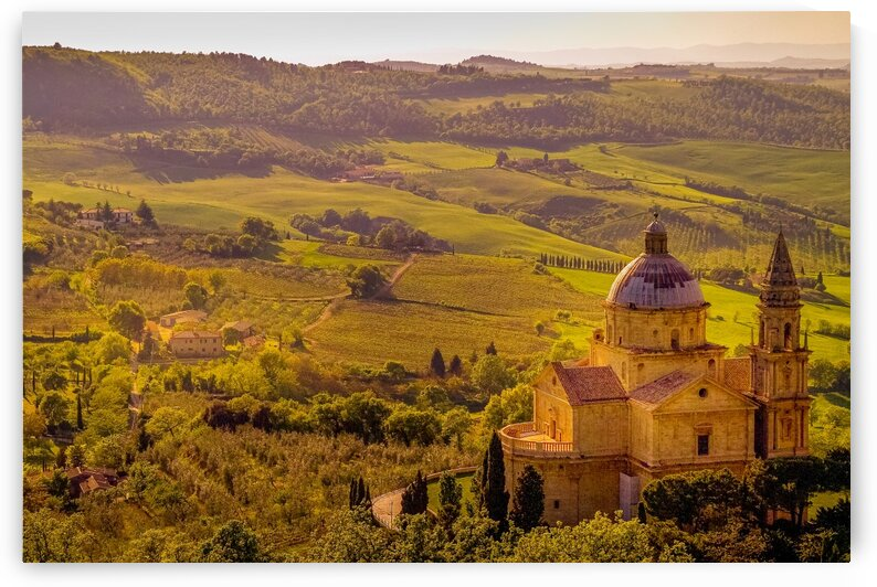 Tempio di San Biagio church near Montepulciano Italy. by Daniel Ouellette