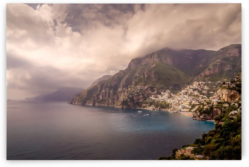 Positano on the Amalfi Coast in Italy. by Daniel Ouellette