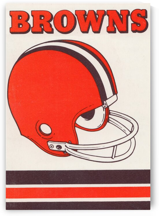 1975 Cleveland Browns Helmet Art by Row One Brand