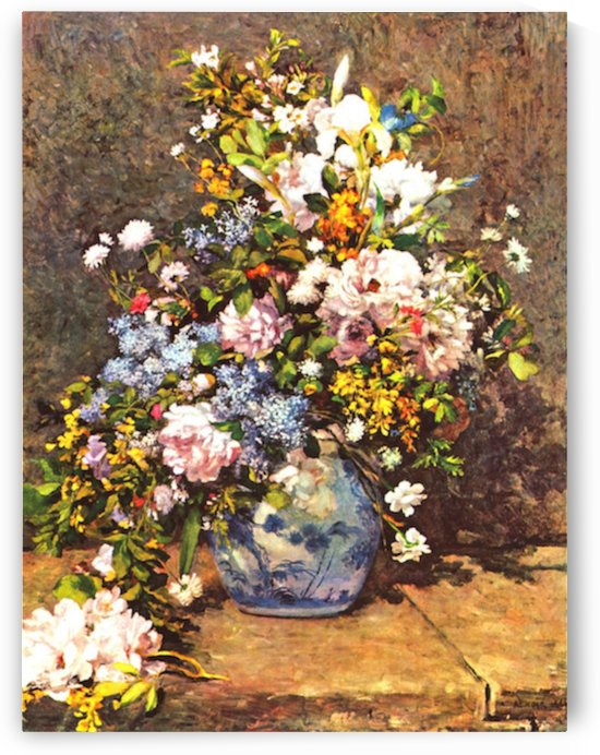 Still life with large vase by Renoir by Renoir