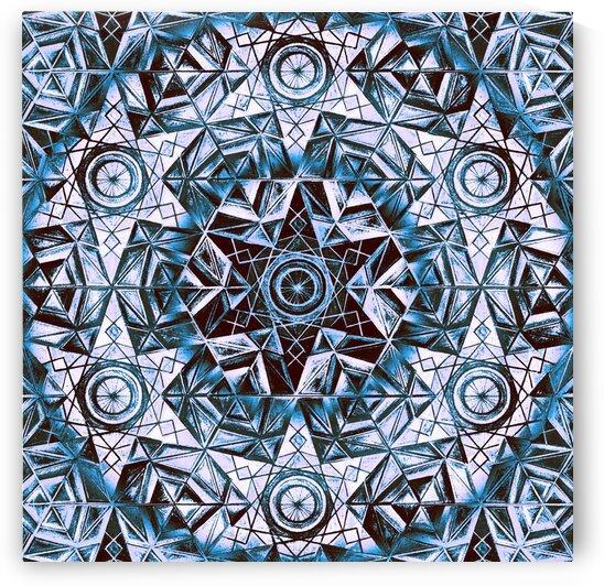 Hexagon Kaleidoscope Handdrawing 2 by Tsveta Dinkova