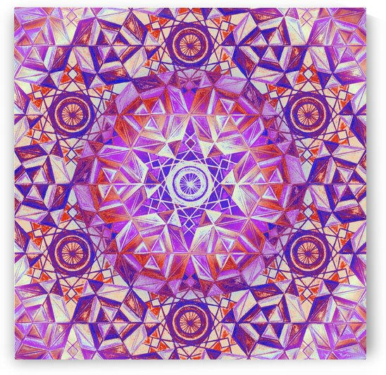 Hexagon Kaleidoscope Handdrawing 3 by Tsveta Dinkova