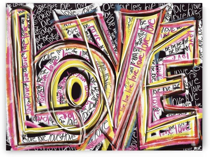 DIGITAL ILLUSTRATION - Big Love Scribble  by Lisa Shavelson