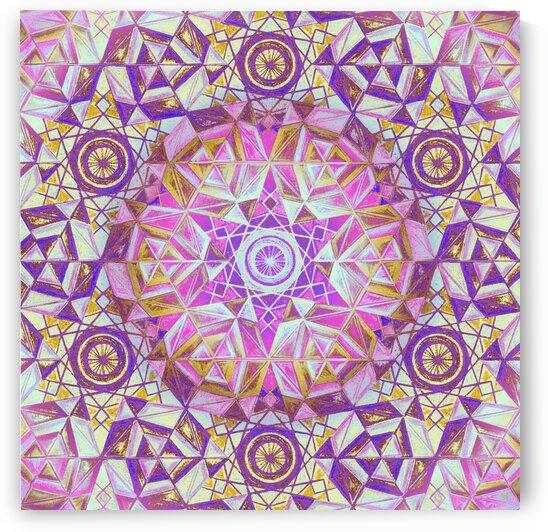 Hexagon Kaleidoscope Handdrawing 4 by Tsveta Dinkova