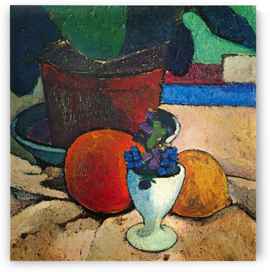 Still Life with lemon, orange and tomato by Paula-Modersohn-Becker by Paula Modersohn-Becker