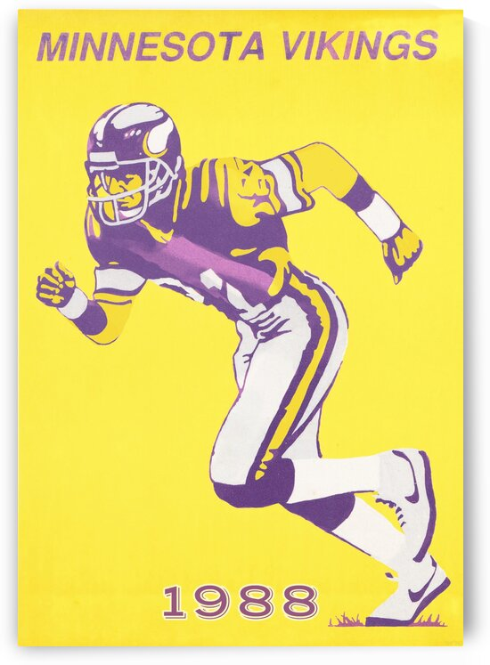 1988 Minnesota Vikings Football Poster by Row One Brand