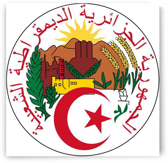 Algeria Emblem by Fun With Flags
