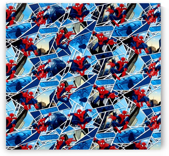 Marvel Spiderman Spiderman Panes Blue by Mutlu Topuz