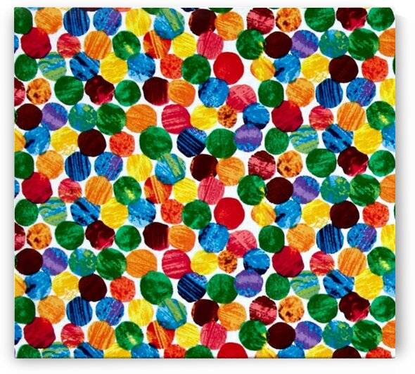 The Very Hungry Caterpillar Abstract Dots Multi by Mutlu Topuz