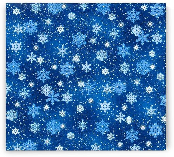 Landscape Medley Snowflakes Royal by Mutlu Topuz