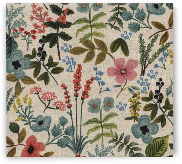 Cotton + Steel Rifle Paper Co. Canvas Amalfi Herb Garden Natural by Mutlu Topuz