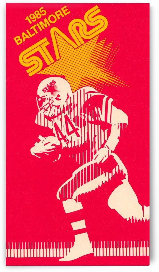 1985 Baltimore Stars USFL Football Art by Row One Brand