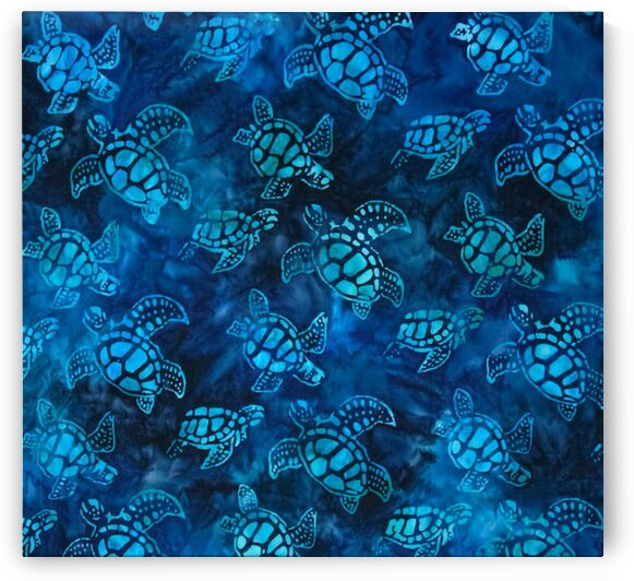 Kaufman Artisan Batiks Totally Tropical Small Turtles Regatta by Mutlu Topuz