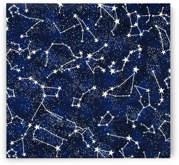 Timeless Treasures Glow In The Dark Constellations Midnight by Mutlu Topuz