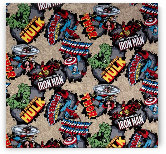 Marvel Comics Cotton Comic Burst Red by Mutlu Topuz