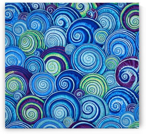Kaffe Fassett Spiral Shells Blue by Mutlu Topuz