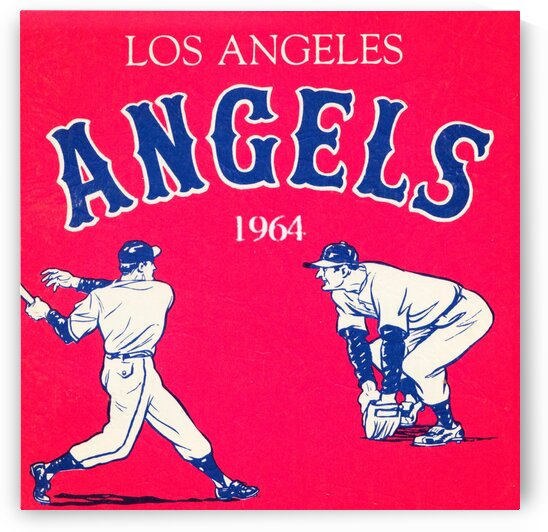 1964 Los Angeles Angels Baseball Art by Row One Brand