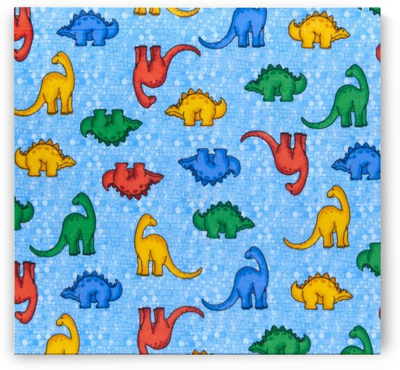 Comfy R Flannel Print Multicolored Dinosaurs by Mutlu Topuz
