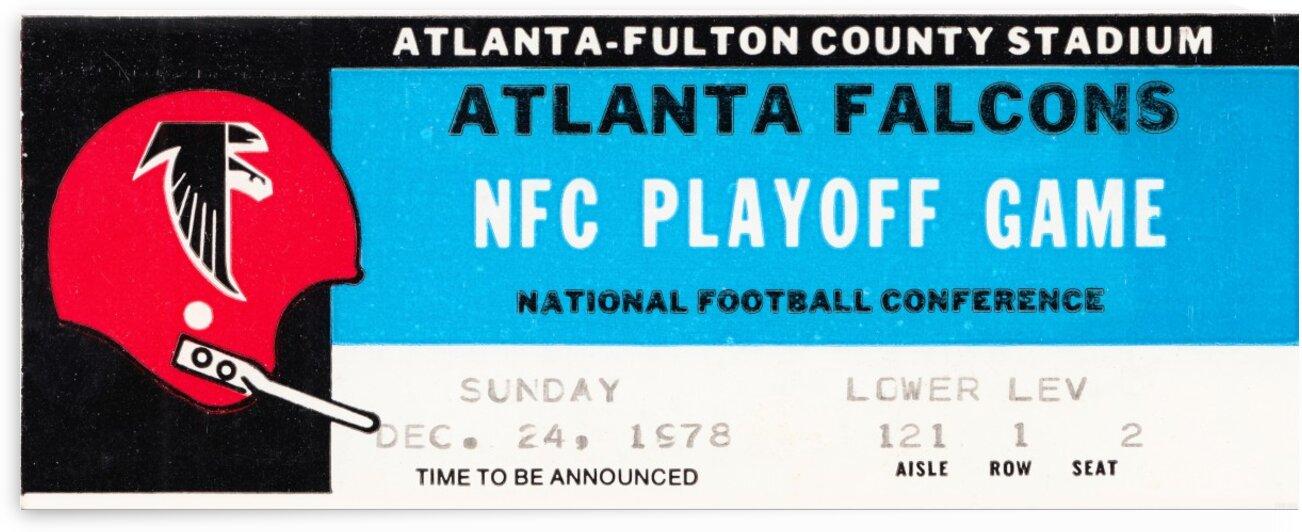 1978 Atlanta Falcons Ticket Stub Art by Row One Brand