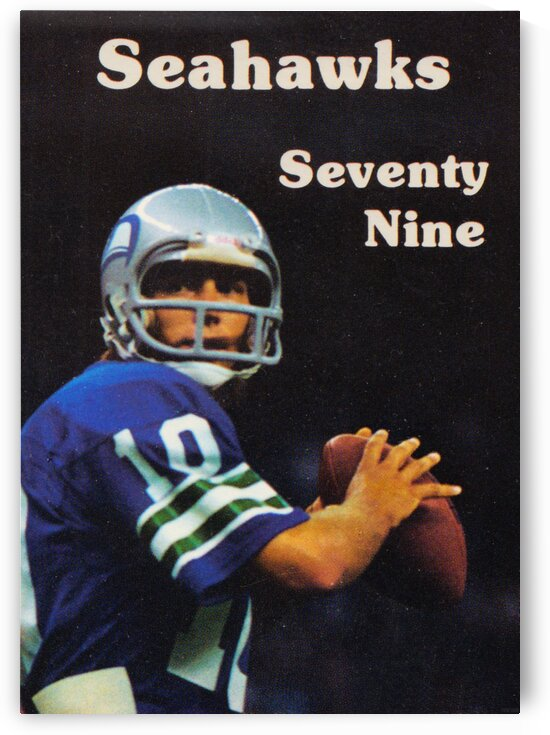 1979 Seattle Seahawks Jim Zorn Poster by Row One Brand
