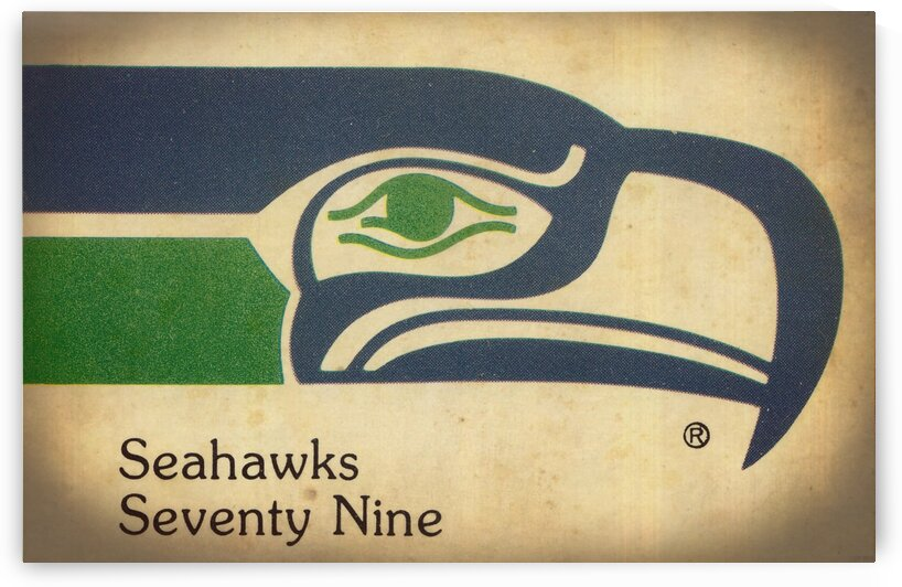 1979 Seattle Seahawks Art by Row One Brand