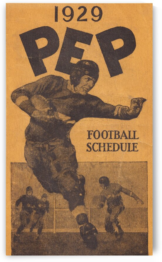 1929 Pep Football Schedule Art by Row One Brand