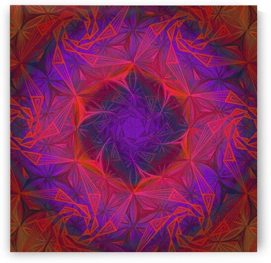 Spirals Kaleidoscope Handdrawing 4 by Tsveta Dinkova