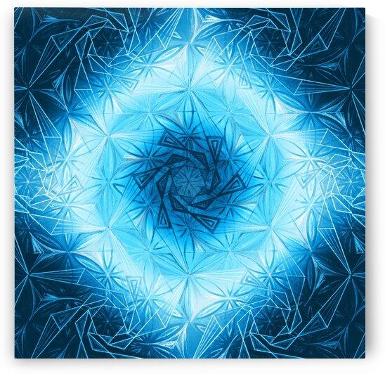 Spirals Kaleidoscope Handdrawing 3 by Tsveta Dinkova