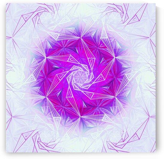 Spirals Kaleidoscope Handdrawing 2 by Tsveta Dinkova